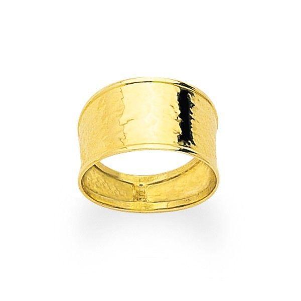 YSORA - Bague en or jaune ruban poli. Largeur 9mm en Or Jaune - POINÇON : Or Jaune - 750/1000