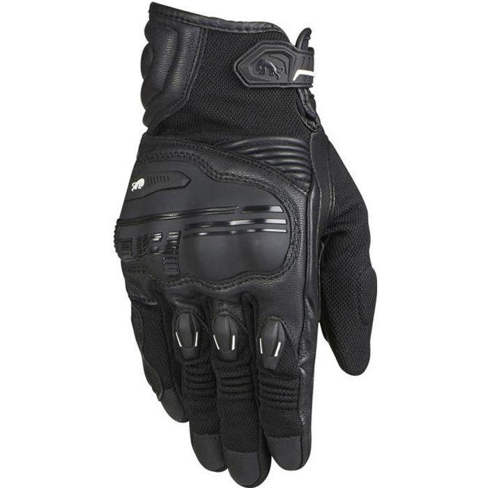Gants de moto en cuir Furygan Waco Noir