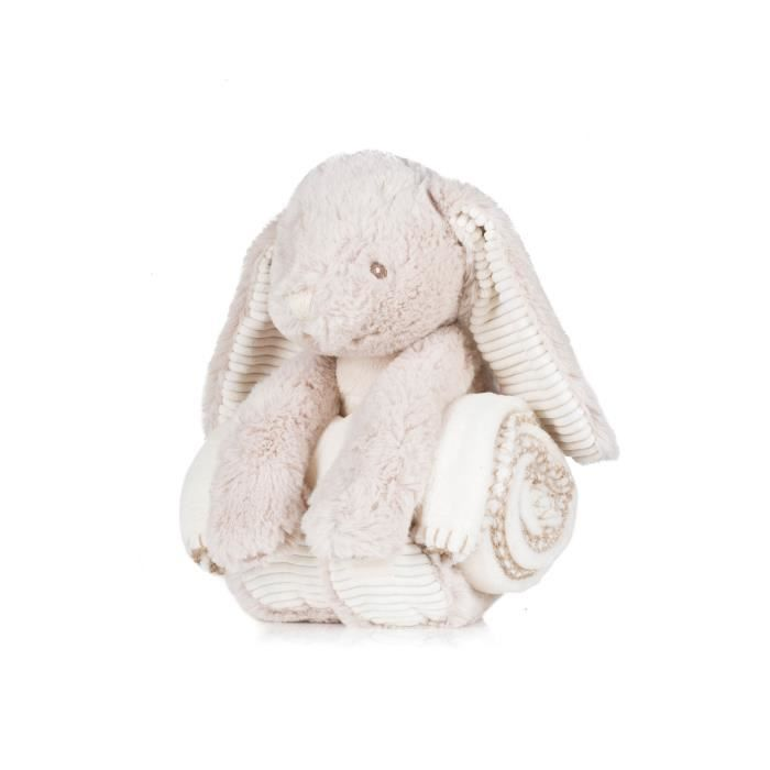 Peluche Lapin amp couverture