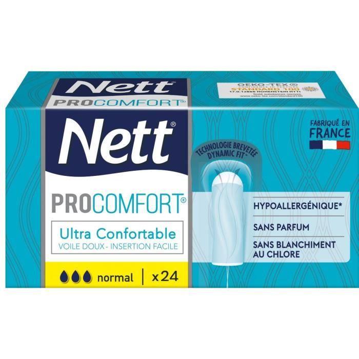 NETT Tampon ProComfort Normal sans applicateur - Boîte de 24