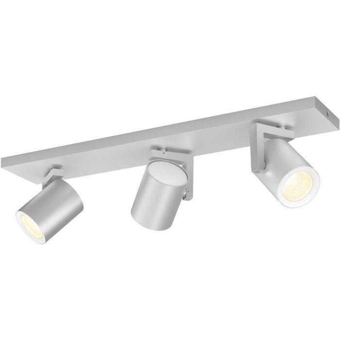 Ligne de spots 21 W 3x GU10 Philips Lighting Argenta 50623-48-P7 aluminium