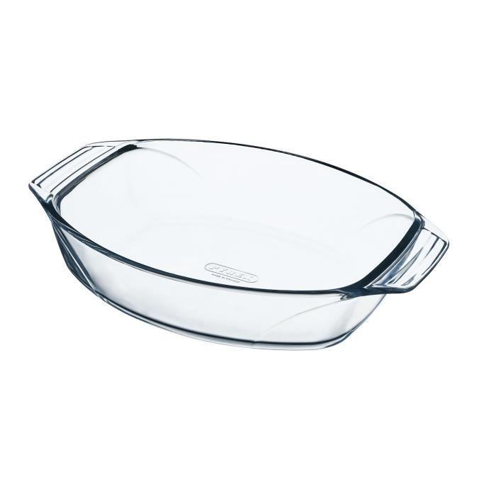 PYREX Plat à four ovale 40x28 cm transparent