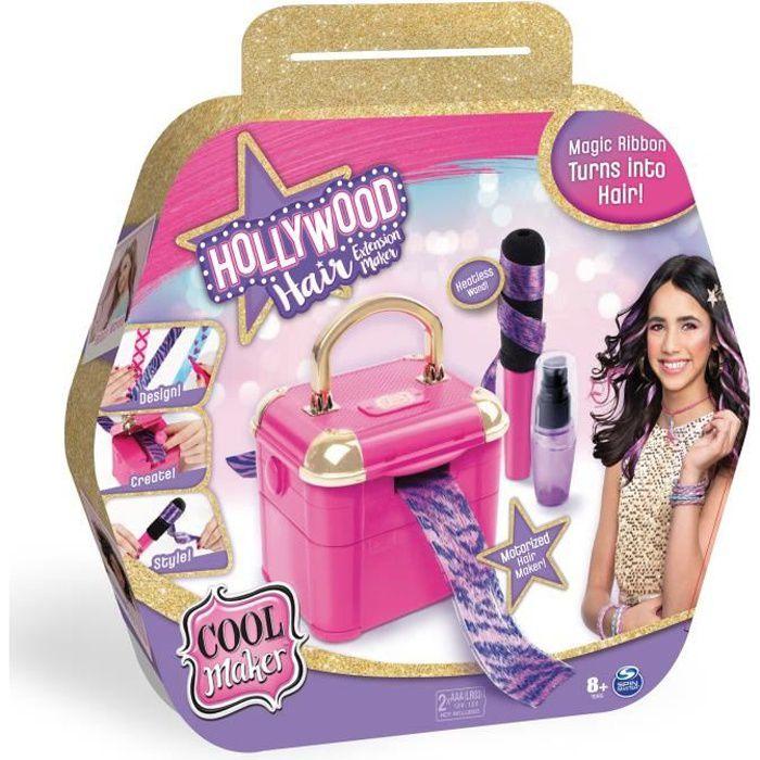 COOL MAKER - Hollywood Hair Studio - 6056639 - Machine pour créer coiffures sur cheveux et accessoires - Loisirs créatifs enfants