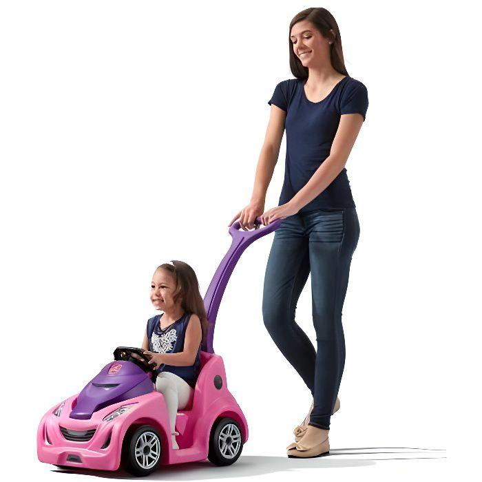 Step2 porteur buggy en plastique coffre robuste rose pour fille enfant 1,5 an et plus