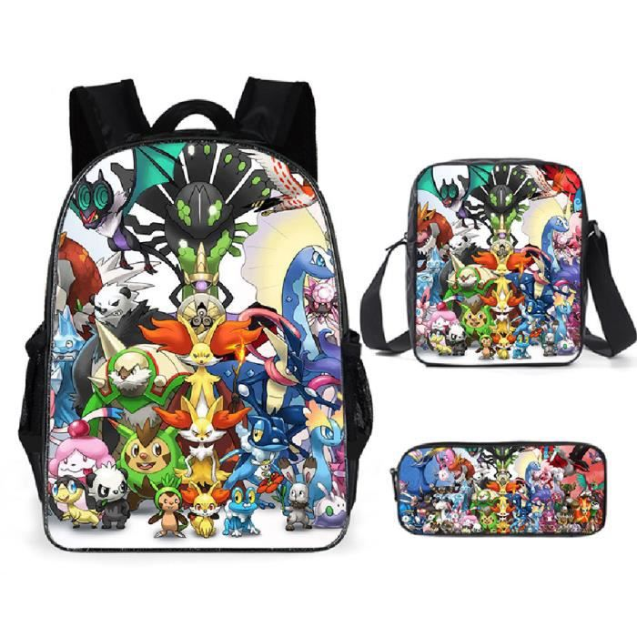 Pokémon Sacs D'école Cool Garçons Filles Anime Elfe Pikachu Sac À Dos Scolaire Enfants Backpack A23