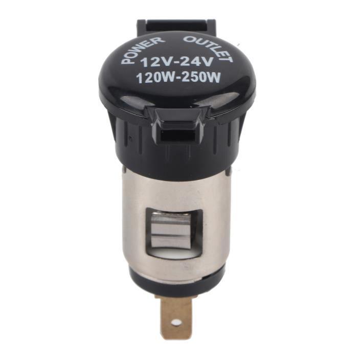 VINGVO allume-cigare moto 12-24V adaptateur allume-cigare prise allume-cigare femelle pour voiture moto