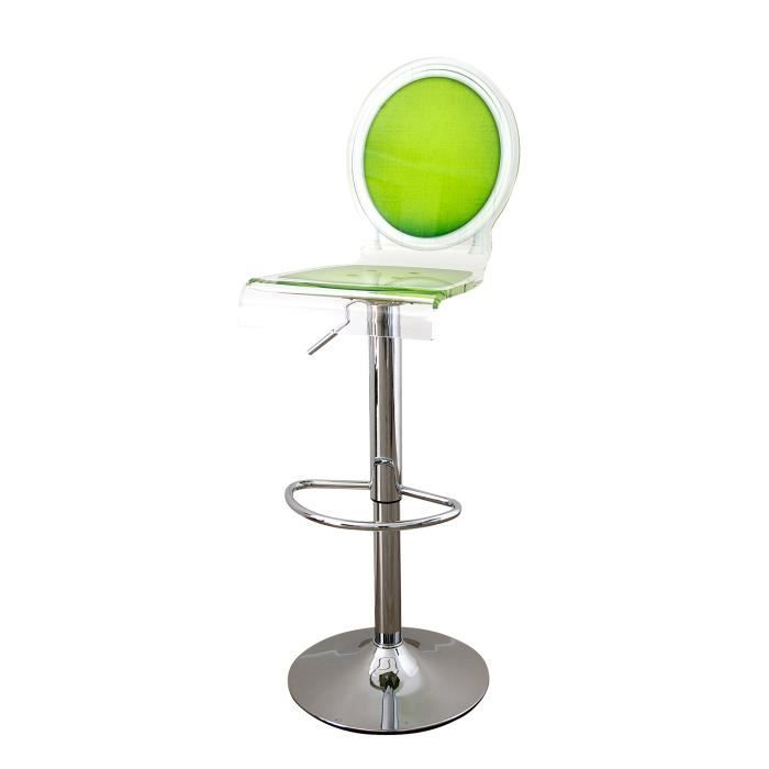 acrila tabouret de bar sixteen pied m tallique vert achat vente tabouret de bar vert. Black Bedroom Furniture Sets. Home Design Ideas