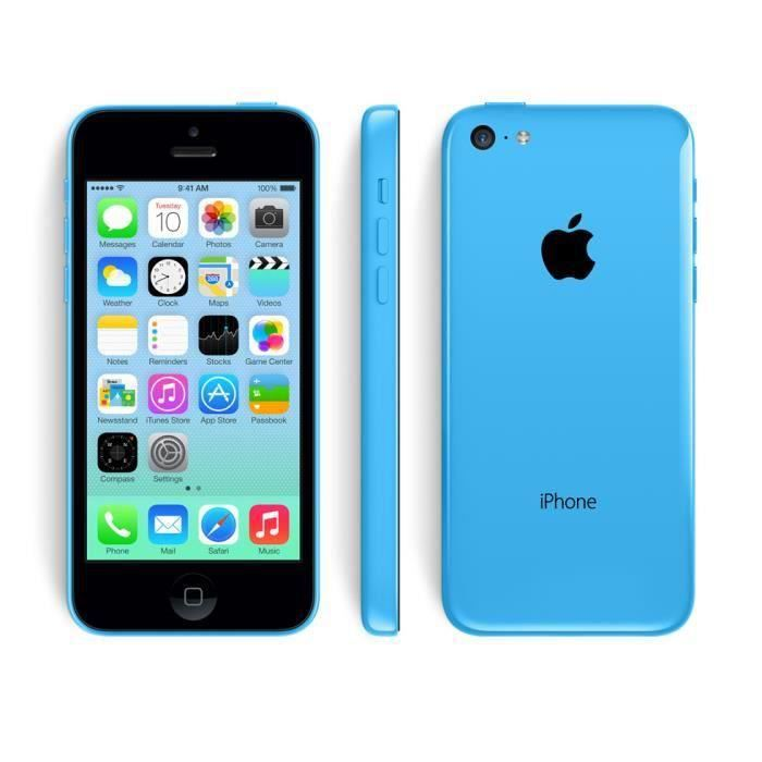 iphone 5c 16 gb go bleu reconditionn a neuf garantie achat smartphone pas cher avis et. Black Bedroom Furniture Sets. Home Design Ideas