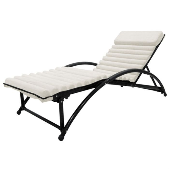 lit bain de soleil en textilene gym futon beige achat vente chaise longue lit bain de soleil. Black Bedroom Furniture Sets. Home Design Ideas