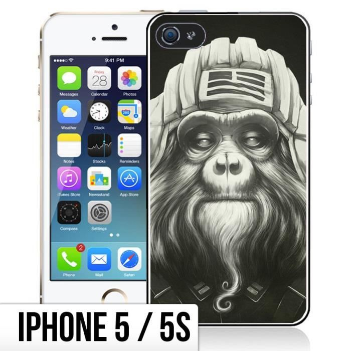 coque iphone 5 5s singe aviateur