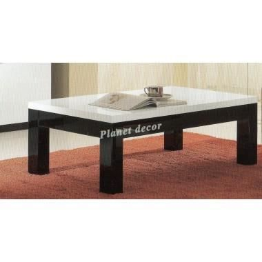 Table basse roma noir blanc achat vente table basse table basse roma noir - Table basse noir blanc ...