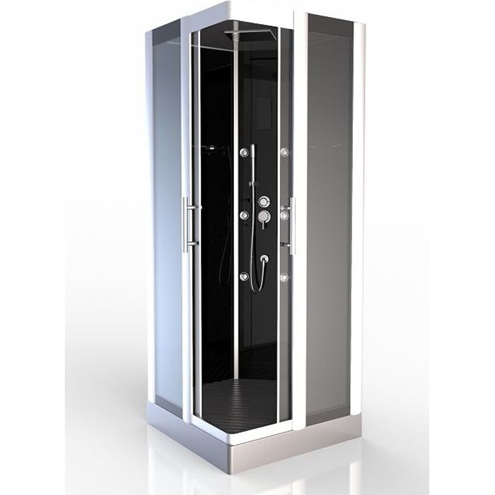 cabine de douche premium carr e 90cm achat vente. Black Bedroom Furniture Sets. Home Design Ideas