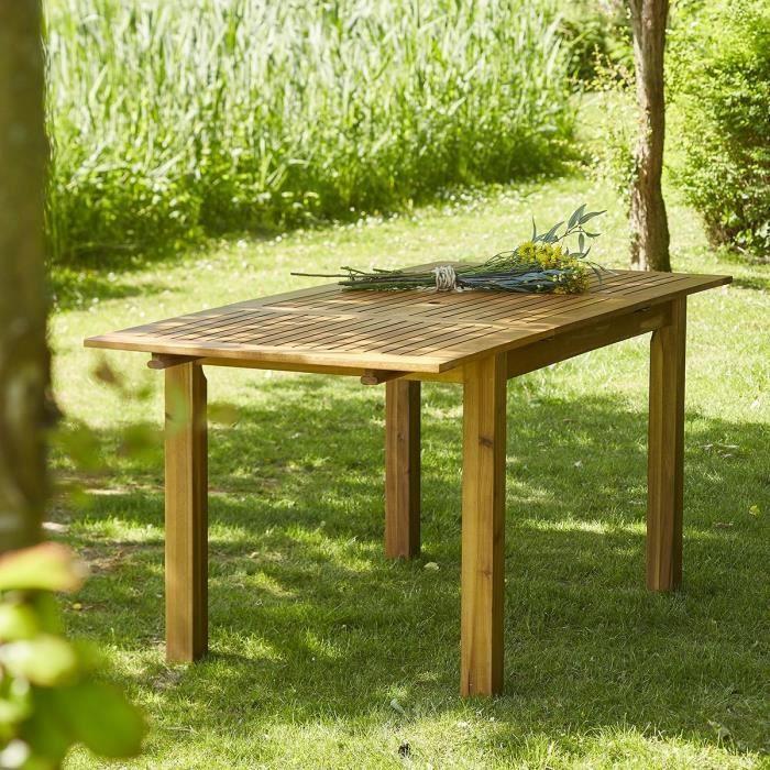 Table de jardin bois avec rallonge