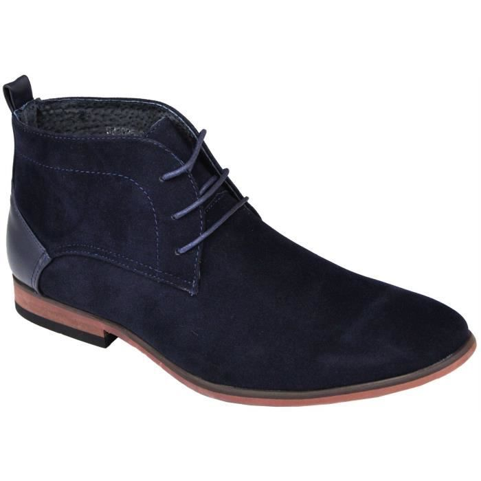 desert boots homme style casual bleu bleu achat vente bottine cdiscount. Black Bedroom Furniture Sets. Home Design Ideas