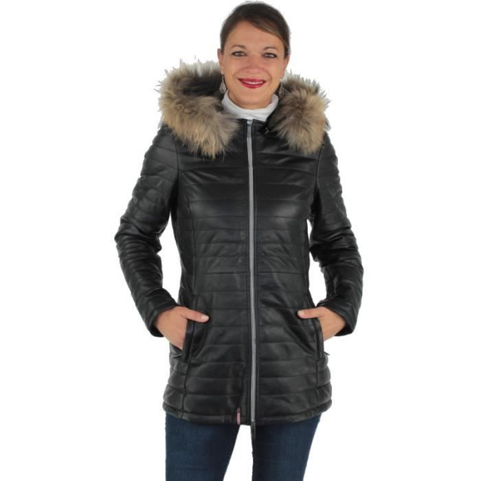 top fashion new design timeless design Doudoune Oakwood Poppy en cuir ref_cco38126