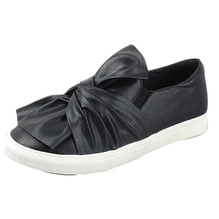 Slip On Ruched Tie Fashion Sneaker C3GYO Taille-39 1-2