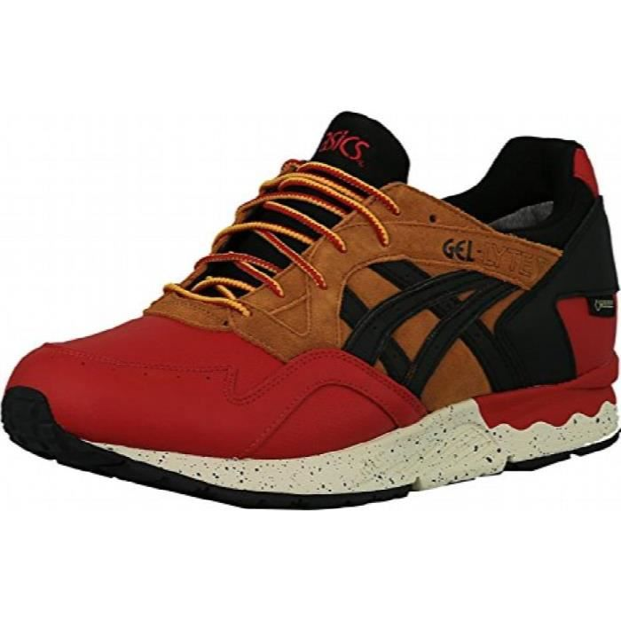 Asics Gel-Lyte V G-tx bout rond en cuir Chaussure de course rouge F77XR Taille-44 1-2