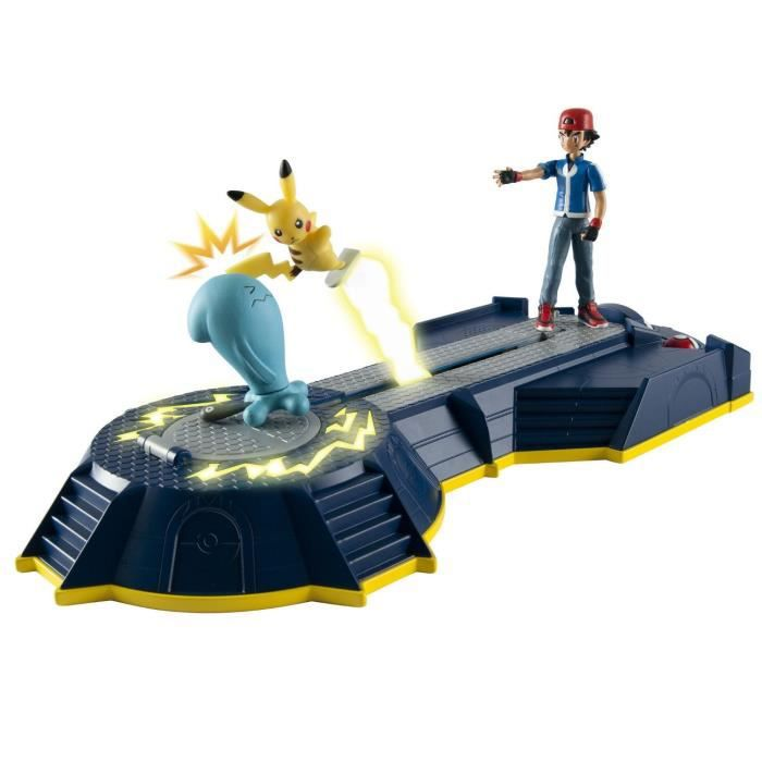 POKEMON La Base de Combat de Sacha + 2 Figurines
