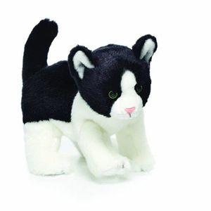 PELUCHE Jouet en peluche, Chat noir et blanc, Petit AQE4M