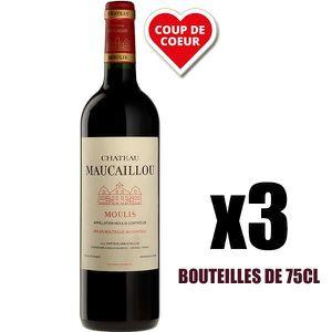VIN ROUGE X3 Château Maucaillou 2016 75 cl AOC Moulis-en-Méd