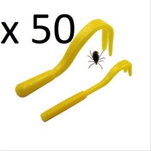 ANTIPARASITAIRE Lot de 50 Sets de 2 Tire Tiques - Pince - Crochet