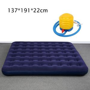 Gonflable Double Simple Floqué air lit camping Luxe Relaxant Matelas Matelas