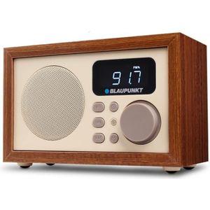 RADIO CD CASSETTE  Radio en bois FM SD/USB/AUX Blaupunkt HR5BR