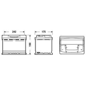 BATTERIE VÉHICULE FULMEN Batterie auto FORMULA FB620 (+ droite) 12V
