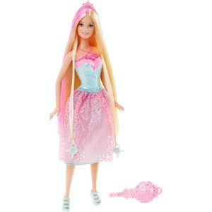 POUPÉE BARBIE - Princesse Chevelure Jupon Rose