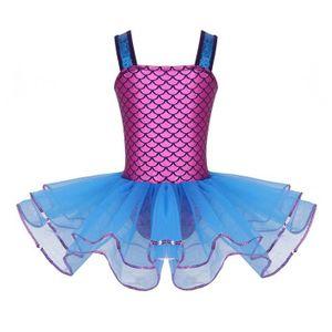 JUPETTE DE DANSE Enfant Fille Robe de Danse Princesse Sirène Robe à
