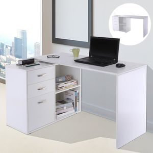 BUREAU  Bureau modulable Solibac blanc