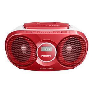 CHAINE HI-FI RADIO CD PHILIPS AZ215R ROUGE