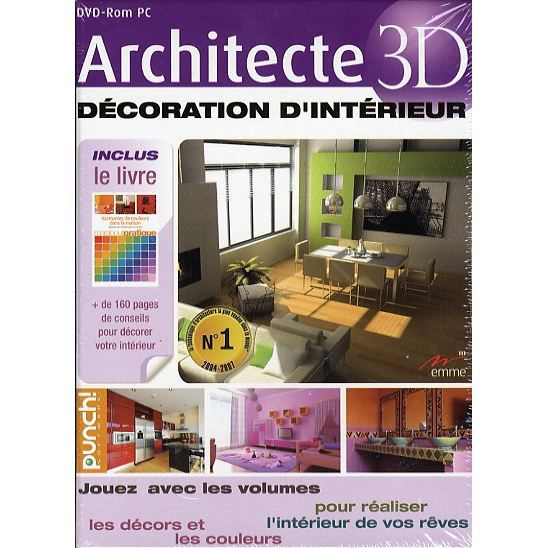 architecte 3d decoration d 39 interieur pc dvd rom prix pas cher soldes cdiscount. Black Bedroom Furniture Sets. Home Design Ideas