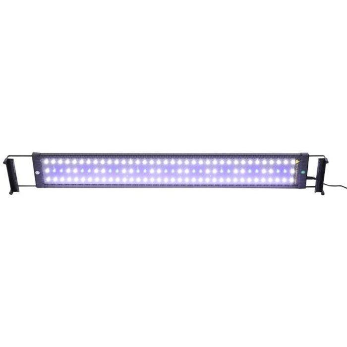 SOULONG Lampe Aquarium LED Extensible Lampe Rampe LED pour Aquarium Réglable Éclairage Aquarium 110V - 240V 8500K Lumière pour Po