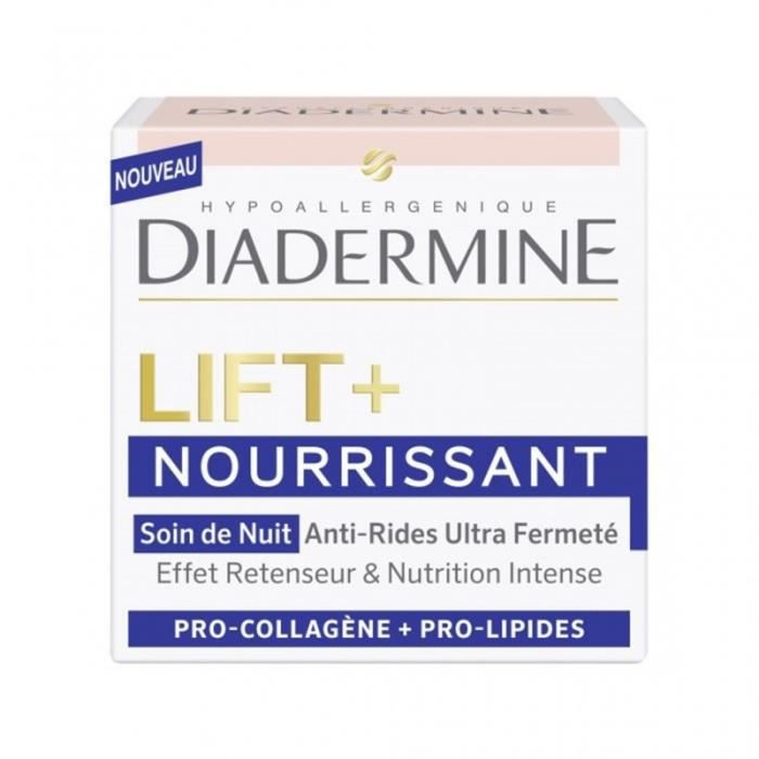 DIADERMINE Lift + Nourrissant Soin de Nuit Anti-Rides Ultra Fermeté 50ml (lot de 2)