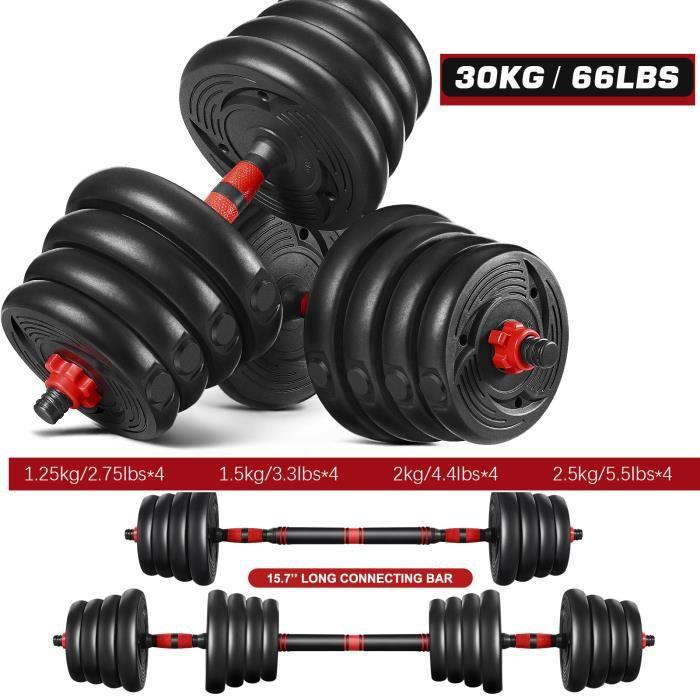 Haltère 30kg musculation Réglable pour Hommes et femmes