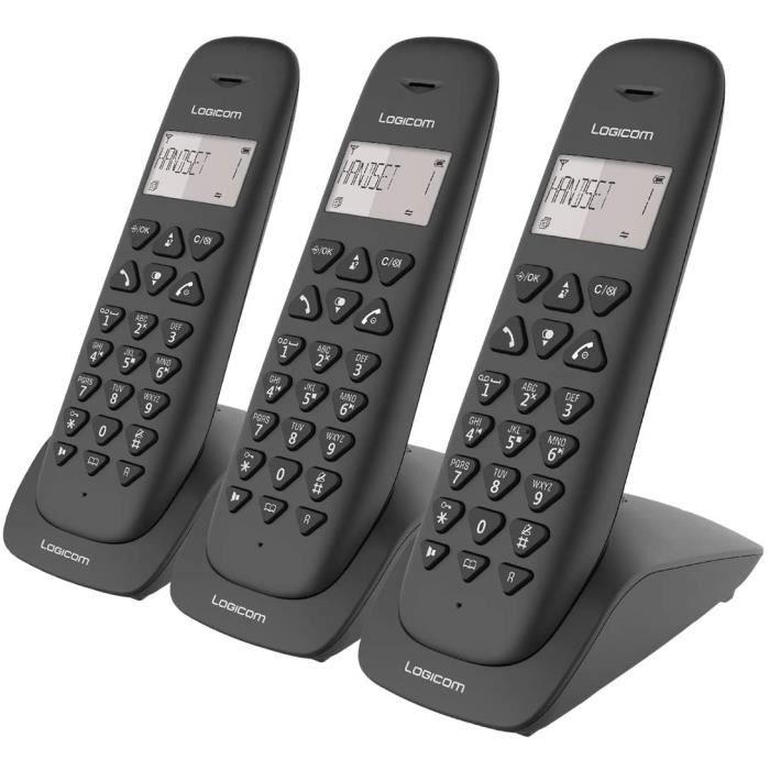 Telephone fixe sans fil - T&eacutel&eacutephone fixe sans fil avec R&eacutepondeur - Trio - T&eacutel&eacutephones analogi[136]