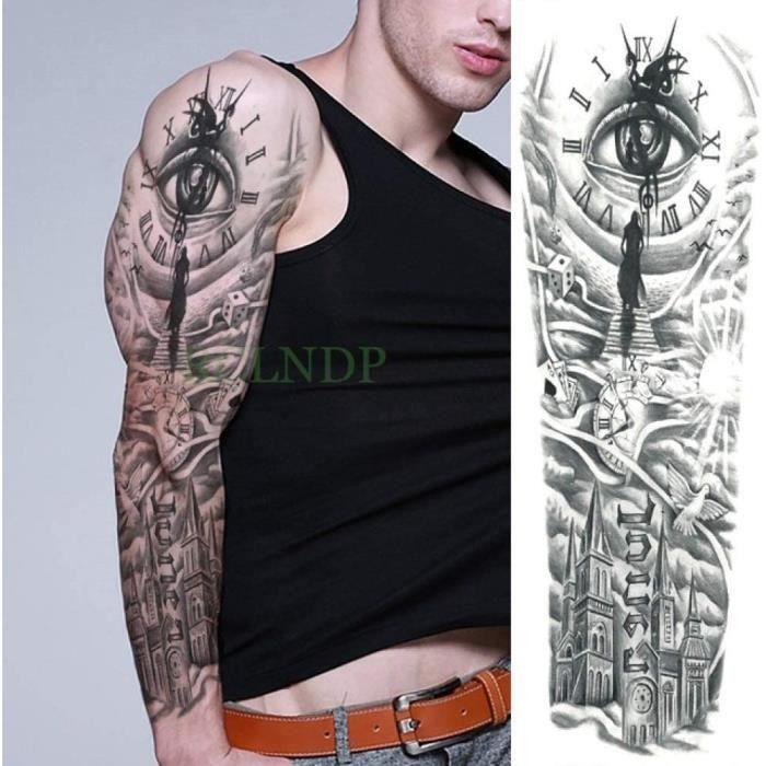3pcsWaterproof Autocollant Ange Fleur Plein Bras De Tatouage De Grande Taille De Tatouage Hommes Et Femmes 3pcs-11718