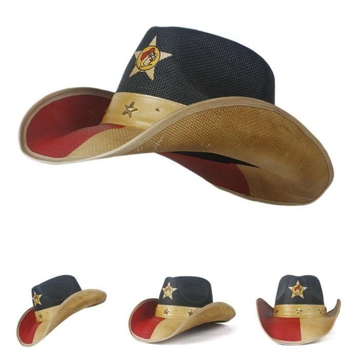 Blue Ji -Chapeau de Cowboy avec corde coupe vent pour hommes, casquette de plage Jazz, style Western Sombrero Hombre, 20 styles
