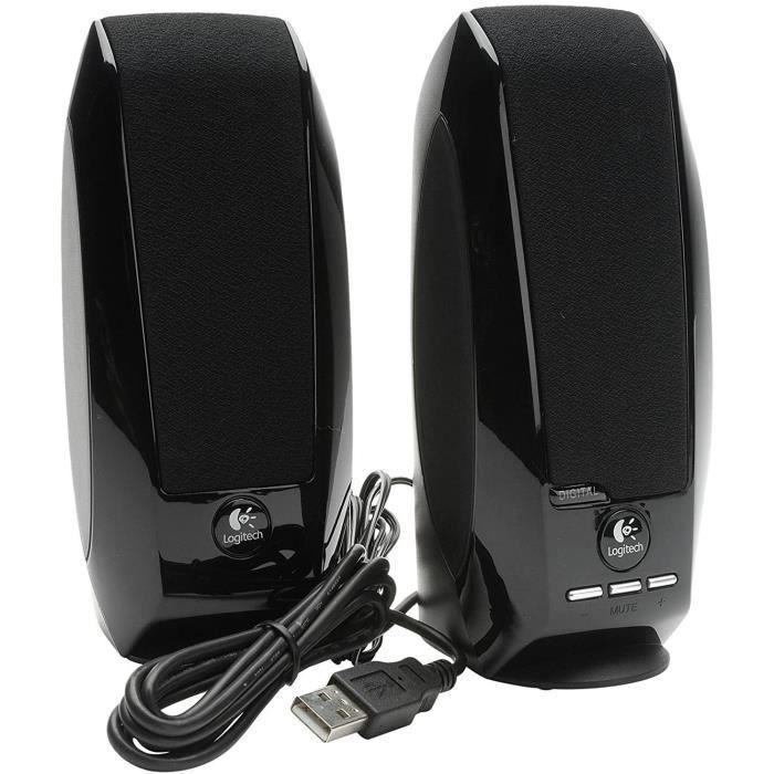 ENCEINTES ORDINATEUR Logitech S150 Digital USB Haut-parleurs multim&eacutedia PC USB 1,2 W Noir110