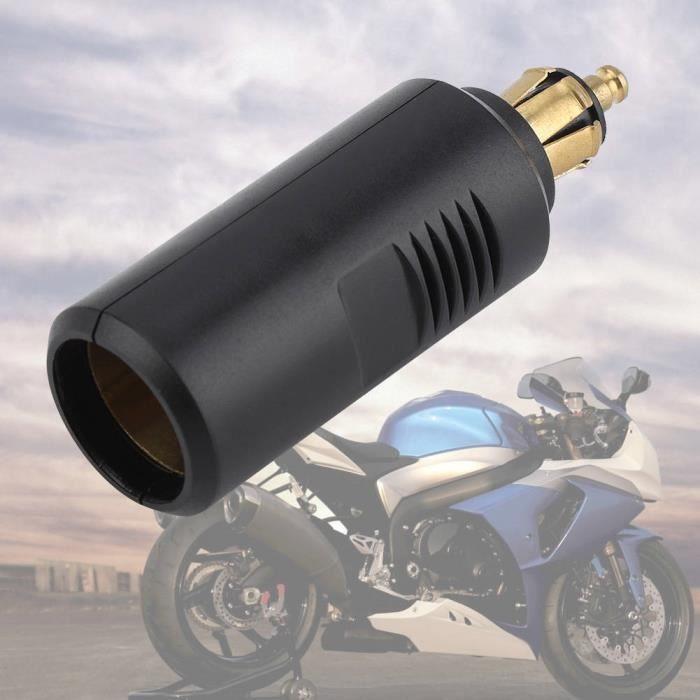 Zerodis Adaptateur allume-cigare européen 12V Adaptateur de Prise Allume-Cigare Européen de Moto pour Prise DIN
