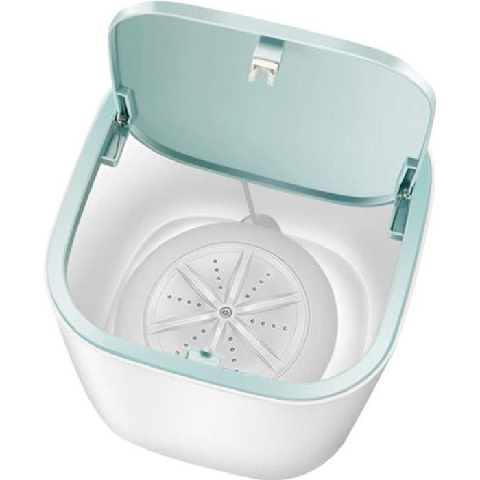 Mini machine à laver automatique USB charge ménage déshydratant mini tube 3-5Kg lavage sous-vêtements soins nettoyant à sec - blanc