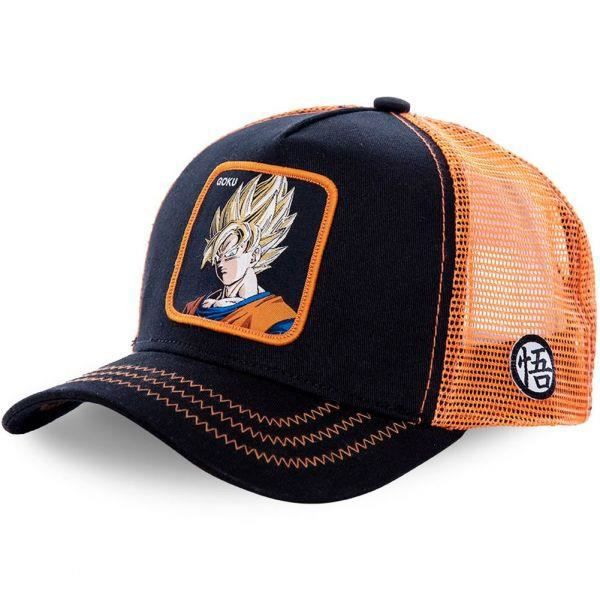 DRAGON BALL Z Casquette Homme Microcoton GO3 Noir Orange CAPSLAB