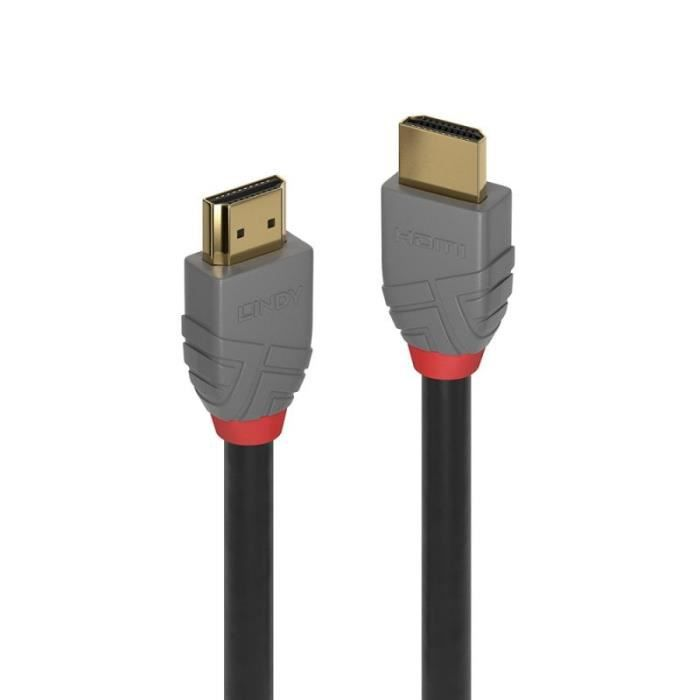 Lindy 36964, 3 m, HDMI Type A (Standard), HDMI Type A (Standard), 4096 x 2160 pixels, 18 Gbit-s, Noir, Gris