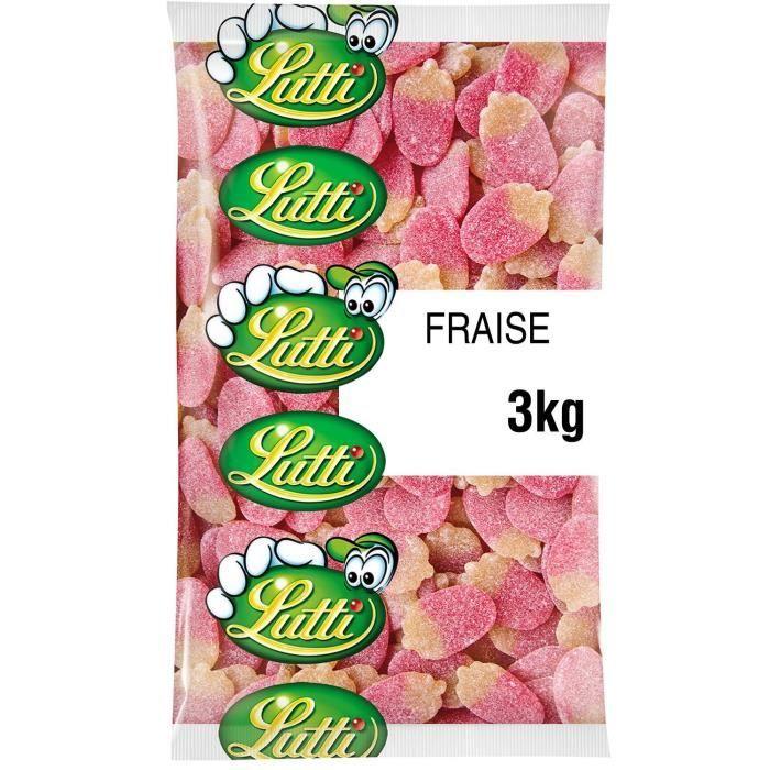 LUTTI Bonbons acidulés Fraises sucrées - 3 kg