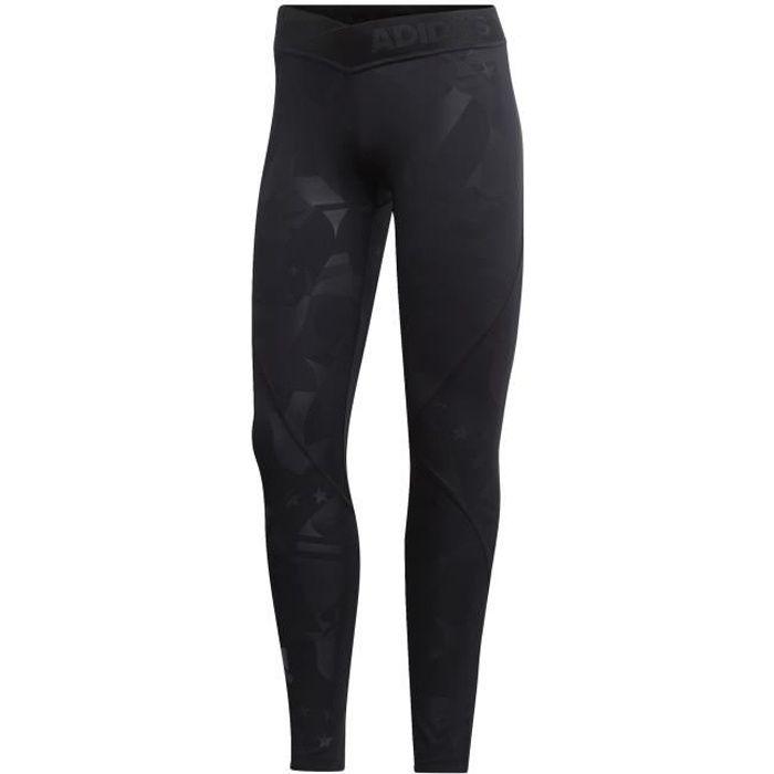Legging femme adidas 7/8 Alphaskin Sport 2.0 Embossed Printed