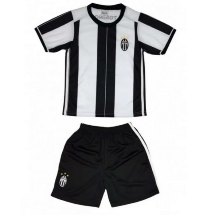 Ensemble de Foot Maillot + Short Juventus enfant noir