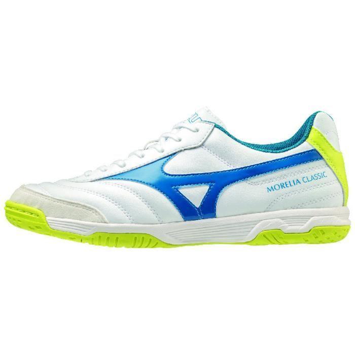 Chaussures de football Mizuno Morelia Sala Classic IN - blanc/bleu - 46
