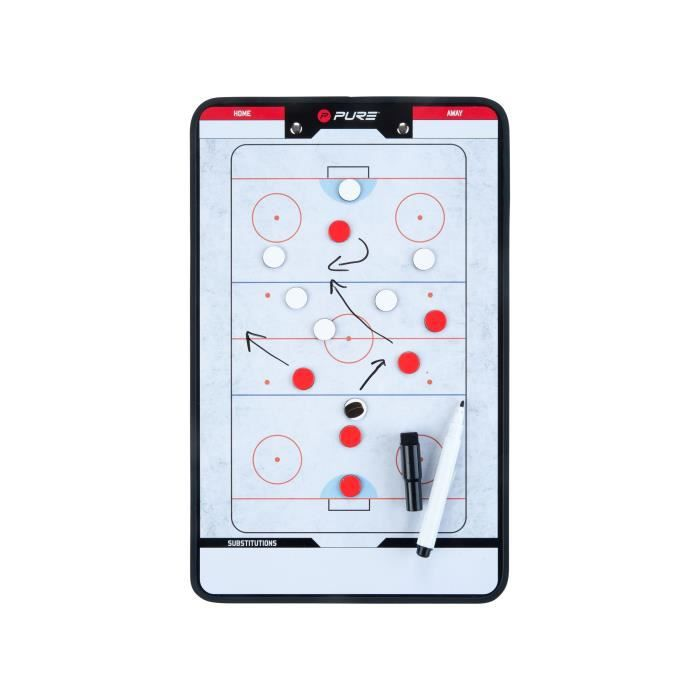 PURE2IMPROVE Coachboard Hockey sur glace - Blanc