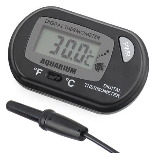 TRIXES Thermomètre digital LCD pour aquarium et vivarium